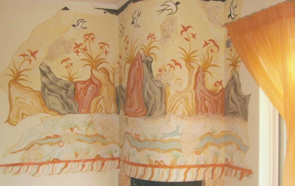 wall painting(from ancient thira- santorini)